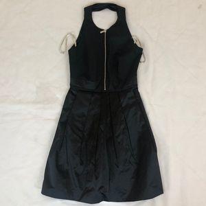 Karen Millen Women's Black Front Zip Dress Size 4